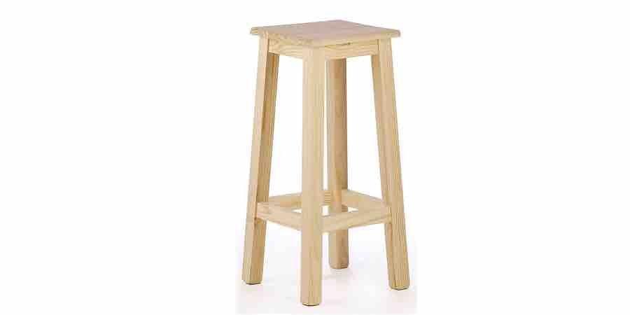 Taburete alto barra bar y cocina de madera, amazon taburetes, amazon taburetes altos, taburetes de madera bajos